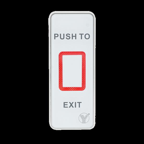 Buton de iesire aplicabil cu LED de stare bicolor, din plastic, actionare prin atingere