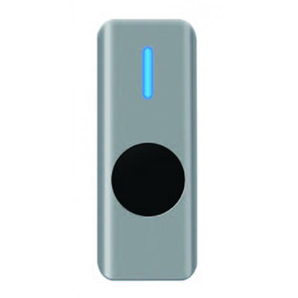 Buton de iesire aplicabil cu LED de stare bicolor, din metal, actionare fara atingere