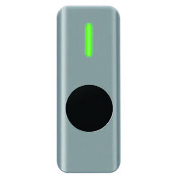 Buton de iesire aplicabil cu LED de stare bicolor, din metal, actionare fara atingere, rezistent la apa IP68
