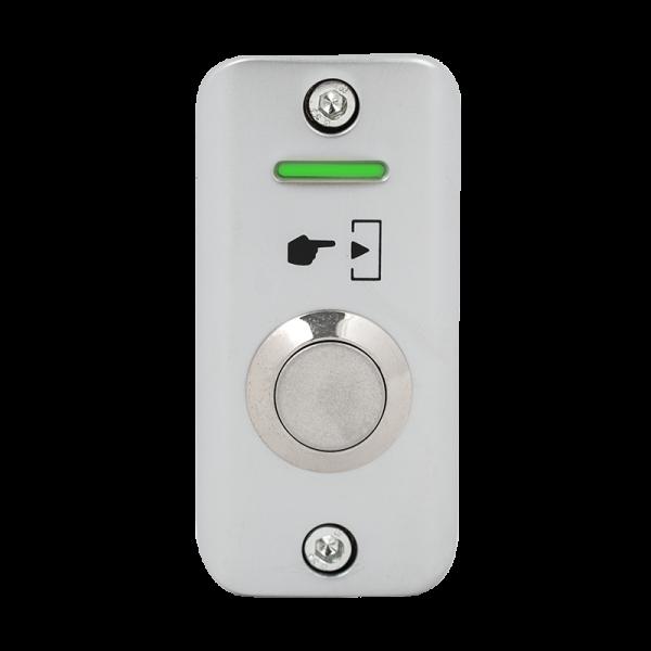 Buton de iesire aplicabil cu LED de semnalizare, din aliaj de zinc, pentru exterior, IP65