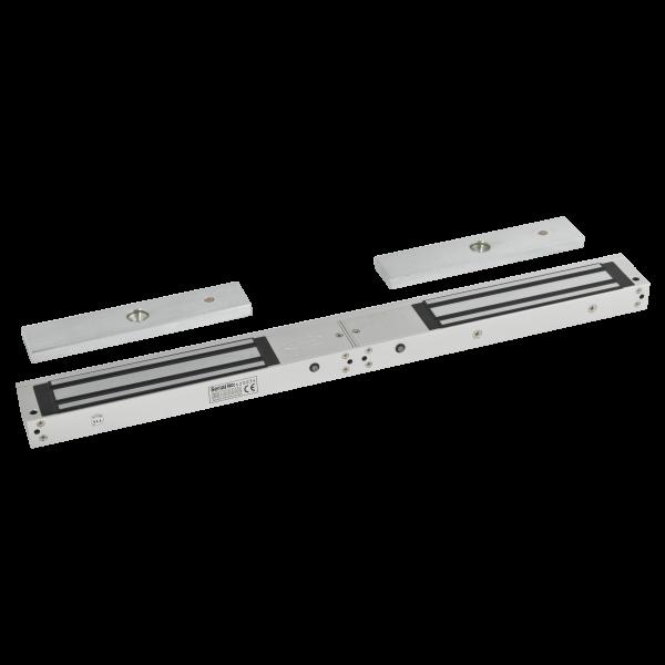 Electromagnet aplicabil de 280kgf, cu temporizare si led de stare, pentru usa dubla