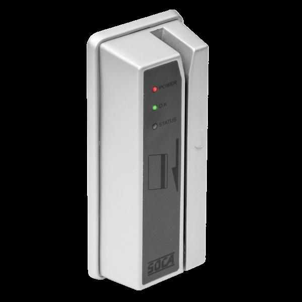 Controler de acces cu card magnetic pentru restrictionarea accesului in incintele ATM