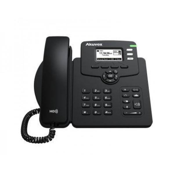 "Telefon de birou IP, HD Voice, ECRAN 2.3"" LCD, POE"