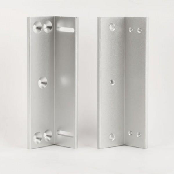 Suport in forma de Z pentru montarea electromagnetilor de 110kgf pe usile cu deschidere la interior