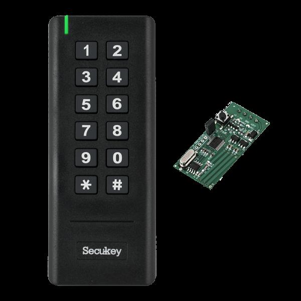 Cititor RFID (MF 13.56MHz) si cod numeric PIN cu comunicatie wireless, pentru centralele de control acces ZKTeco