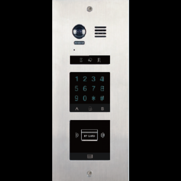 Panou de apel video modular cu camera wide angle si doua locasuri blank