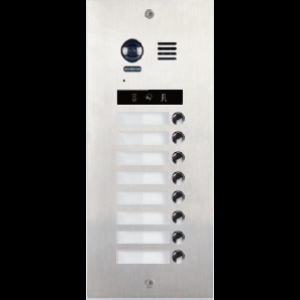 Panou de apel video modular cu camera cu camera wide angle,  8 butoane de apel