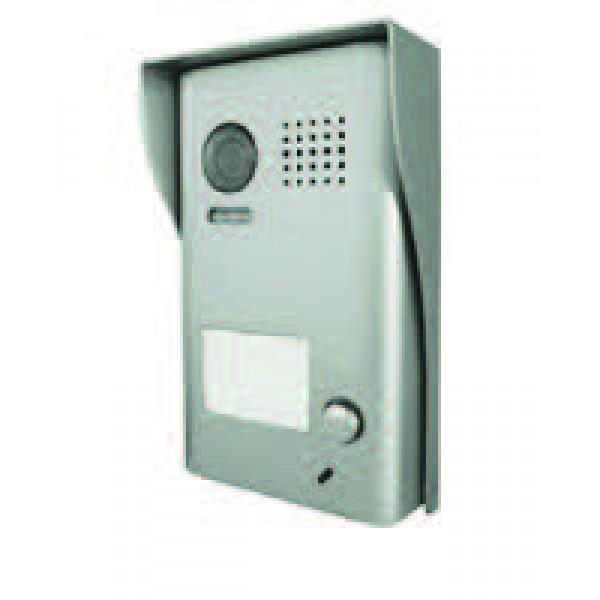 Panou video color de apel exterior, cu conexiune pe 2 fire, camera video CCD WIDE ANGLE 105° incorporata, pentru un abonat
