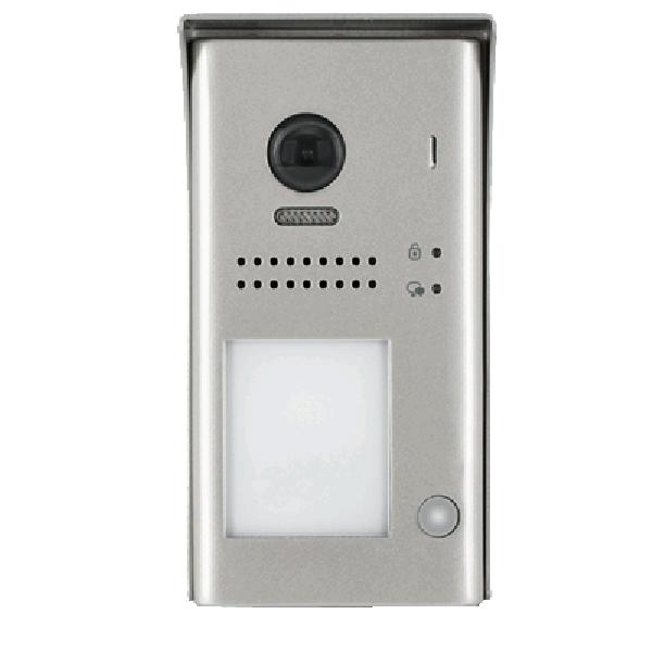 Panou video color de apel exterior, cu conexiune pe 2 fire, camera WIDE ANGLE 170°, pentru un abonat, control acces RFID