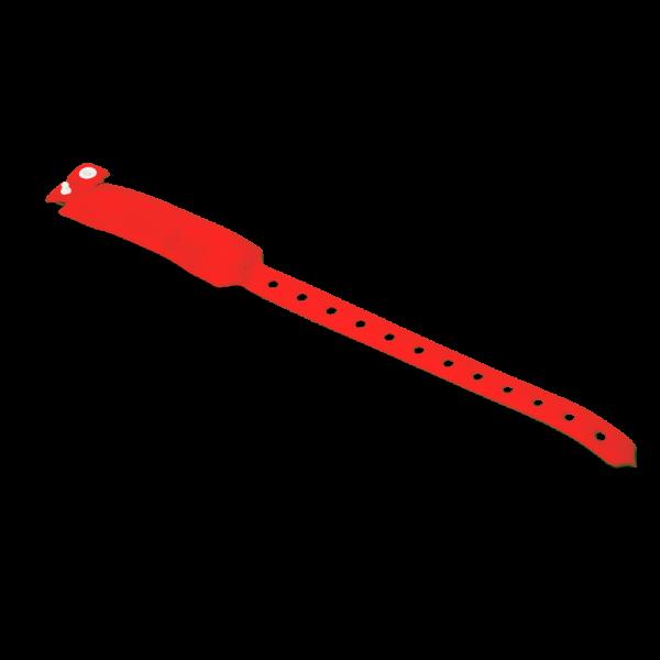 Bratara rosie RFID netransmisibila cu cip EM 125kHZ pentru evenimente