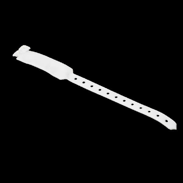 Bratara alba RFID netransmisibila cu cip EM 125kHZ pentru evenimente