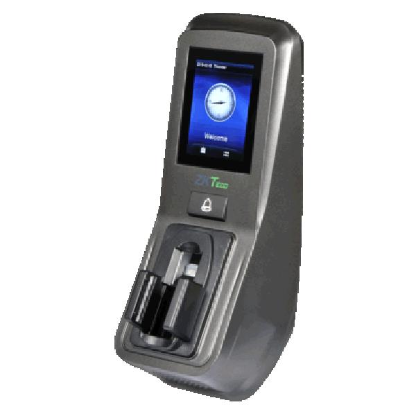 Controler de acces multi-biometric cu functie de pontaj, cu recunoastere vene, cititor de amprente, cititor de proximitate si cod PIN