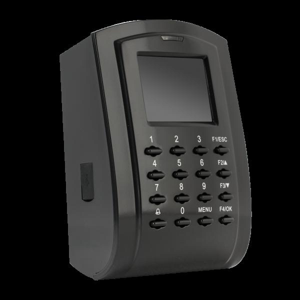 Controler de acces cu functie de pontaj, cu tastatura si cititor de proximitate incorporat (13.56MHz)