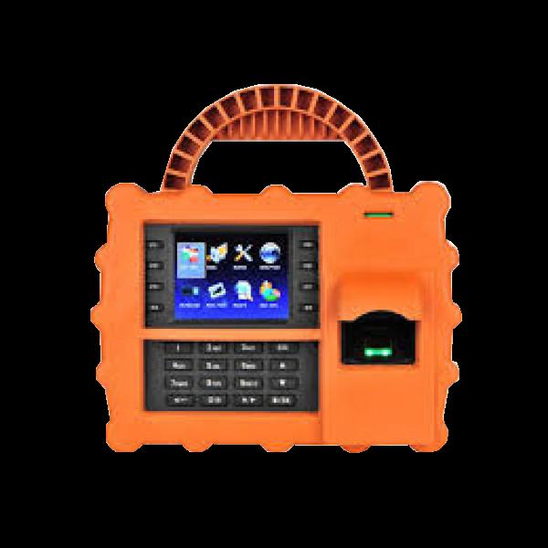Terminal de pontaj, portabil, cu senzor de amprente, cititor de carduri si tastatura
