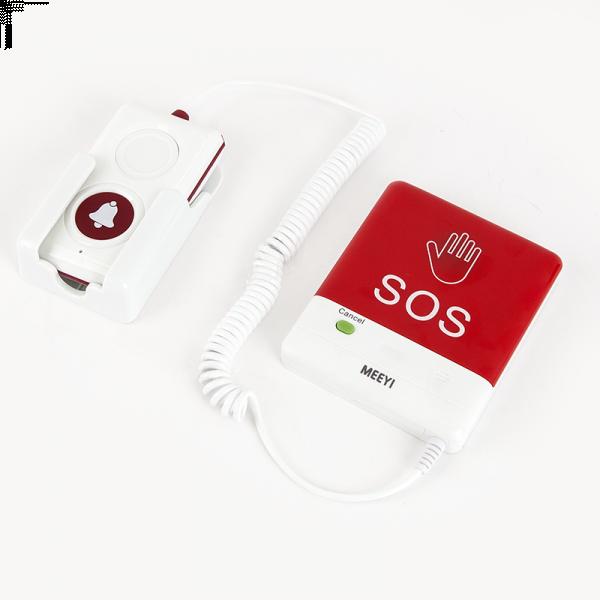 Buton de panica wireless, cablu spiralat si buton de apelare la mana