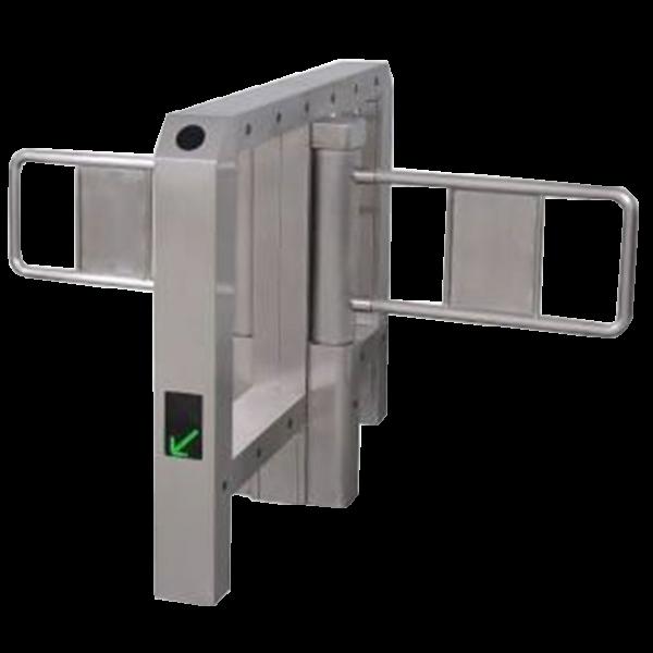 "Poarta batanta automata dubla tip ""BRIDGE"" pentru acces persoane, din INOX"