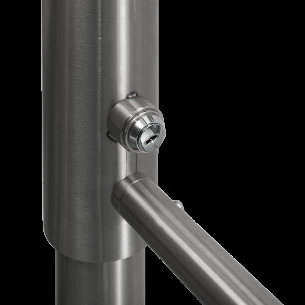 Poarta batanta bidirectionala din INOX, mecanica cu cheie