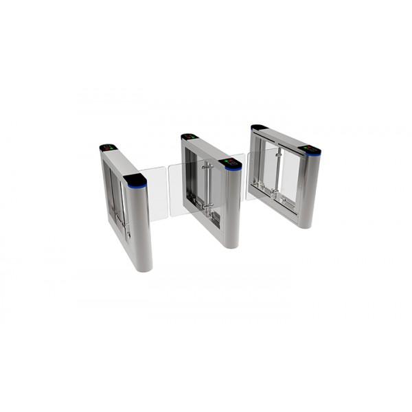 Modul dublu pentru porti batante bridge cu brat de plexiglas
