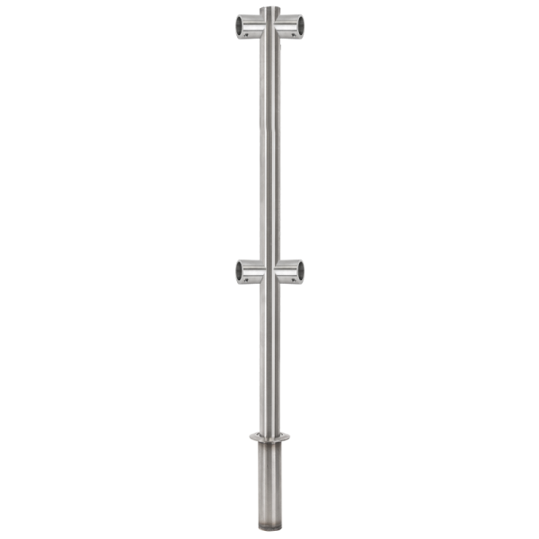 Stalp intermediar 180° din INOX  suport pentru balustrade din INOX, montare ingropata
