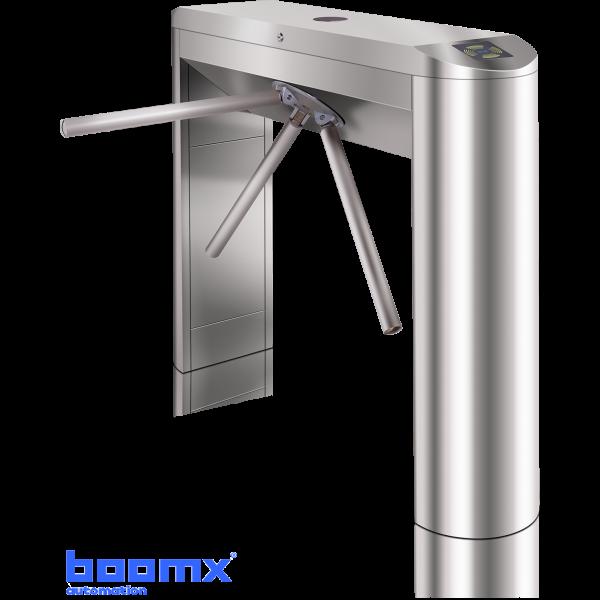 Turnichet bidirectional semiautomat din inox, tip bridge