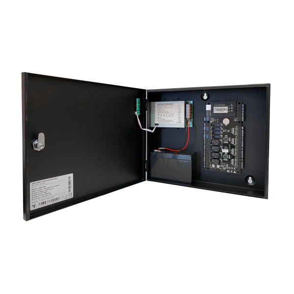 Cabinet multifunctional pentru centrale de control acces 12~14.1Vcc / 5A, backup, negru