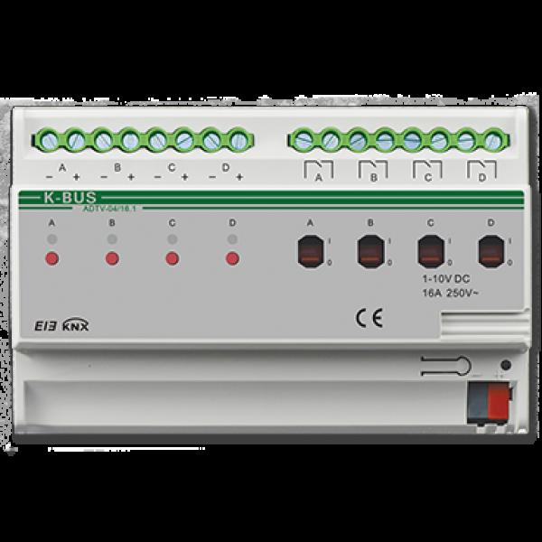 Actuator 4 canale cu dimmer  0-10V