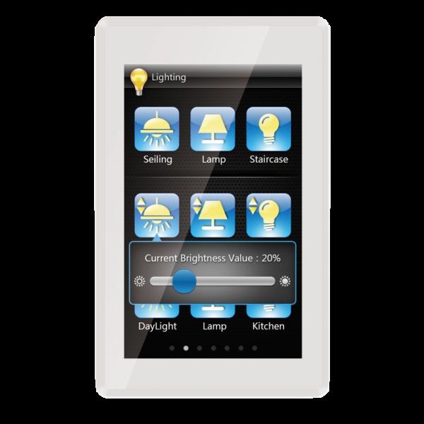 "Panou control TFT 5"" cu touch screen - incastrat"