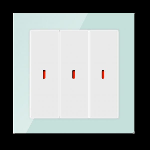 Comutator inteligent - 3 canale, din sticla