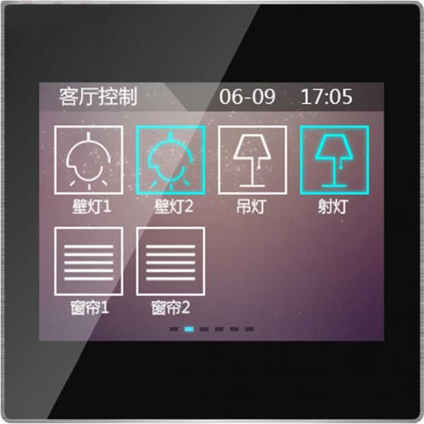 "Panou control TFT 3.5"" cu touch screen - incastrat, negru"