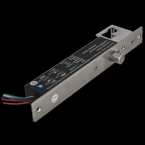 Bolt electric de inalta siguranta cu actiune magnetica si cilindru cu cheie