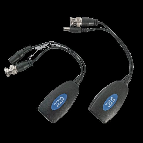 Balun video/alimentare pasiv pentru cablu UTP