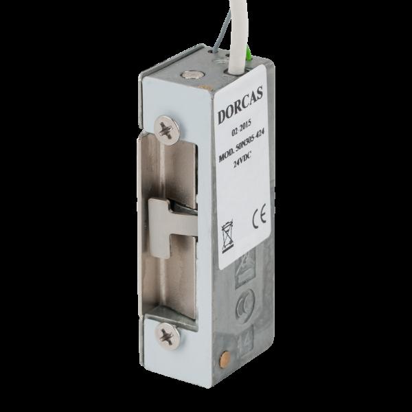 Yala electromagnetica incastrata, 24Vcc, fail-secure, simetrica, reversibila, 800Kg-f