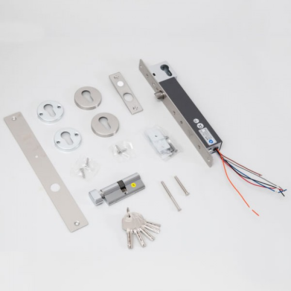 Bolt electric cu actiune magnetica, monitorizare, temporizare si senzor