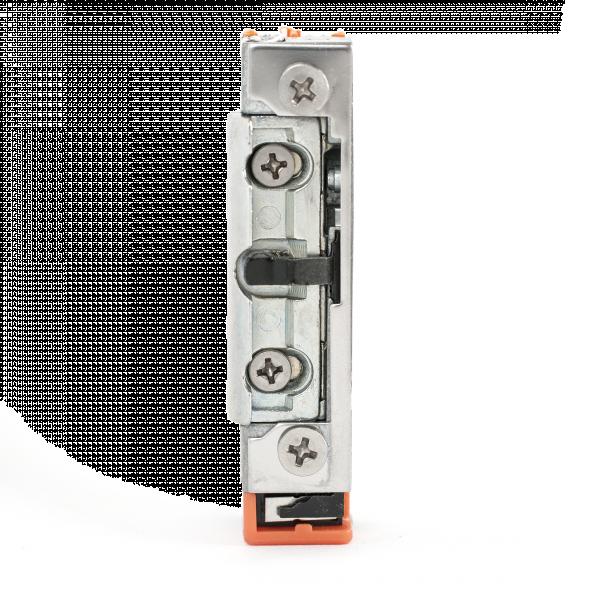 Incuietoare electromagnetica incastrabila, de tip strike, cu functie de monitorizare