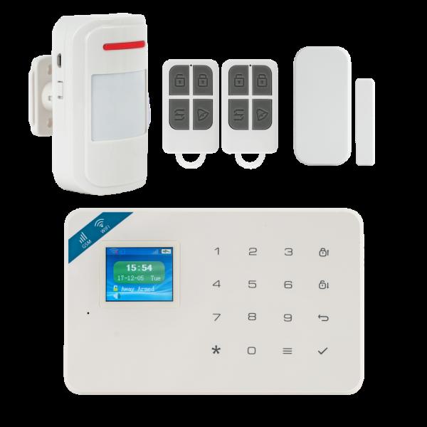 Kit alarma wireless, comunicatie GSM si WIFI, 99 zone