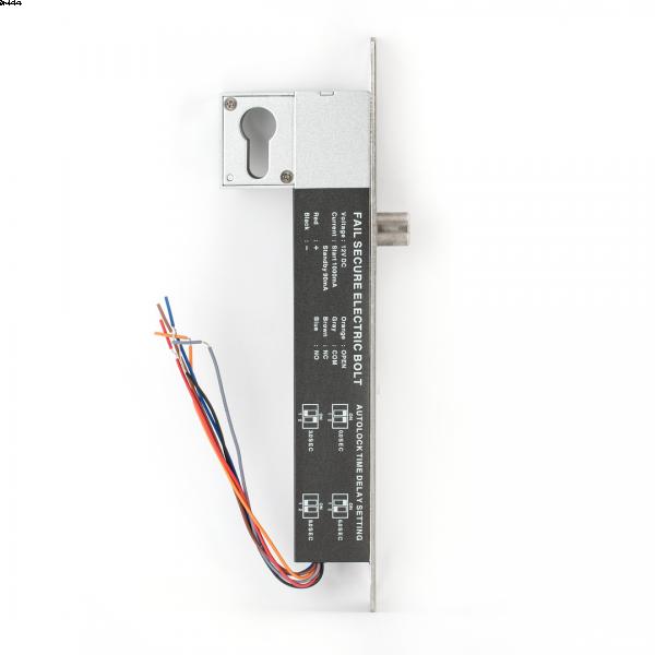 Bolt electric cu actionare electromagnetica, temporizare, monitorizare si cilindru cu cheie