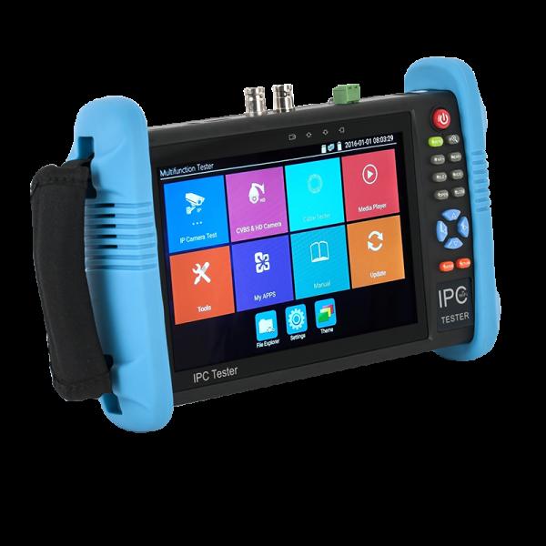 "Tester CCTV 7"" Touch Screen - HD-TVI/CVI/AHD/CVBS/IP, H.264/265, 4K, HDMI I/O, WIFI, POE"
