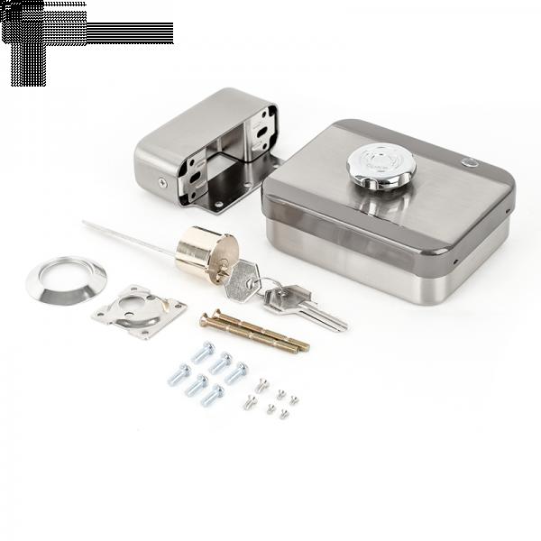 Incuietoare aplicata de exterior, fail-secure, cu motor si senzor magnetic