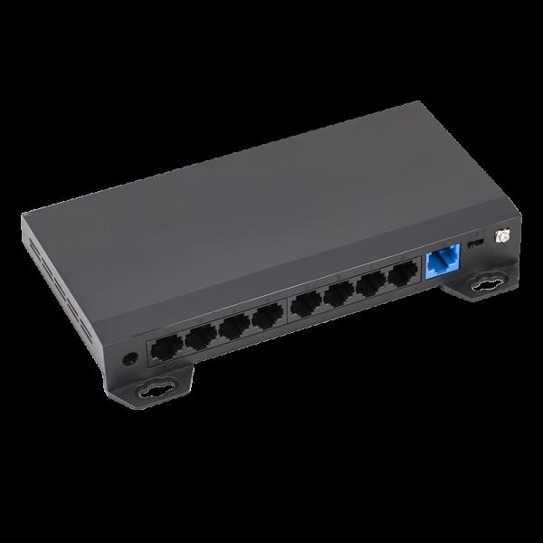 Switch ethernet PoE+, 8 porturi 10/100 Mbps POE+ downlink, 1 port 10/100 Mbps uplink