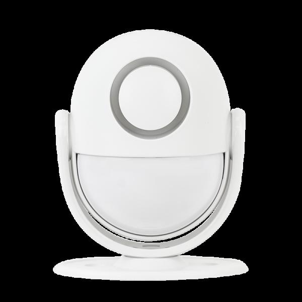 Detector de miscare PIR standalone, wireless, cu comunicatie WiFi, sirena incorporata si telecomanda