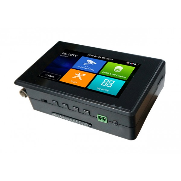 "Tester CCTV profesional de mana, cu ecran tactil de 4"" si cu sistem de operare Android"