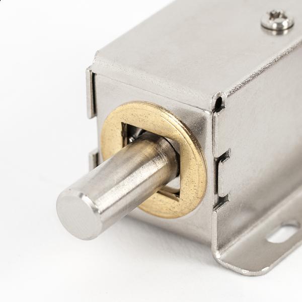 Incuietoare electromecanica din metal cu bolt, pentru usi de vestiare