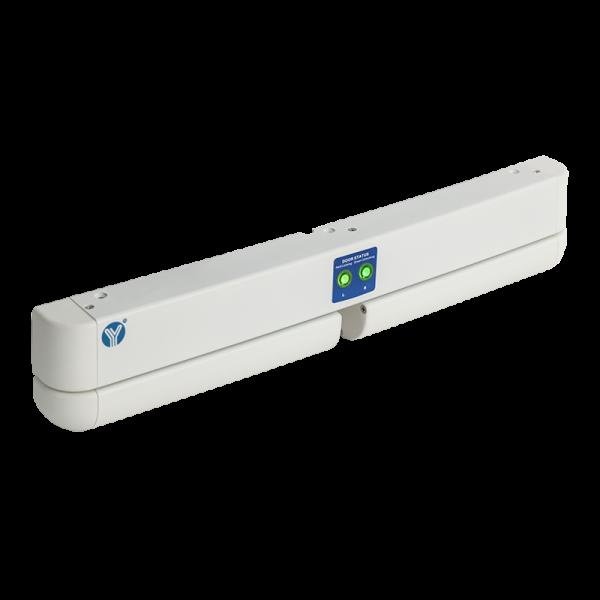 Bolt electric dublu cu actiune electromagnetica, monitorizare, temporizare si LED de stare, alb