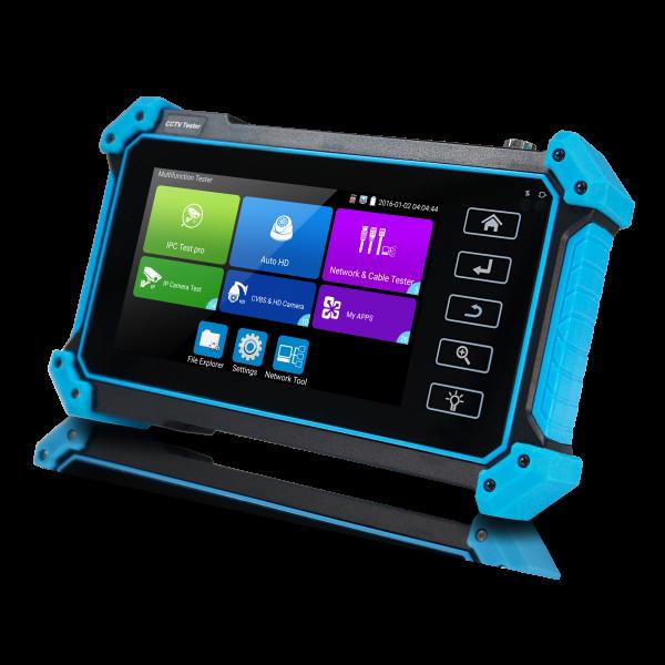 "Tester CCTV profesional, cu ecran tactil de 5"" si sistem de operare Android"