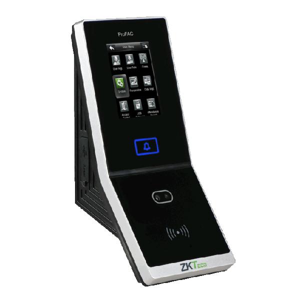 Controler stand-alone cu functie de pontaj, cu recunoastere faciala, card si tastatura, ZK Bio Security