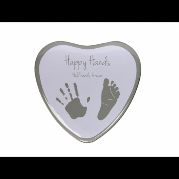 Happy Hands - Cutie in forma de inimioara pentru mulaj manuta sau piciorus
