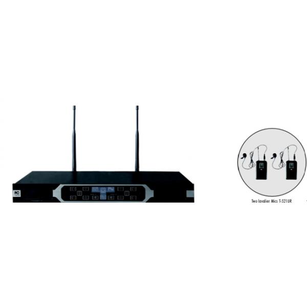 UHF wireless 2 lavariere T-521UR