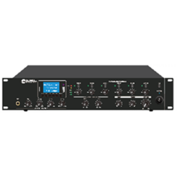 Mixer amplificator de 6 zone (100V), reglaj volum independent pe 6 zone, FM tuner,
