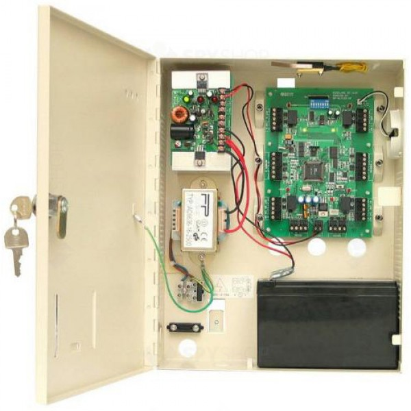 Controler acces pentru 2 uşi unidirectional sau 1 bidirectional, posibilitate de conectare în reţea (maxim 512 uşi)
