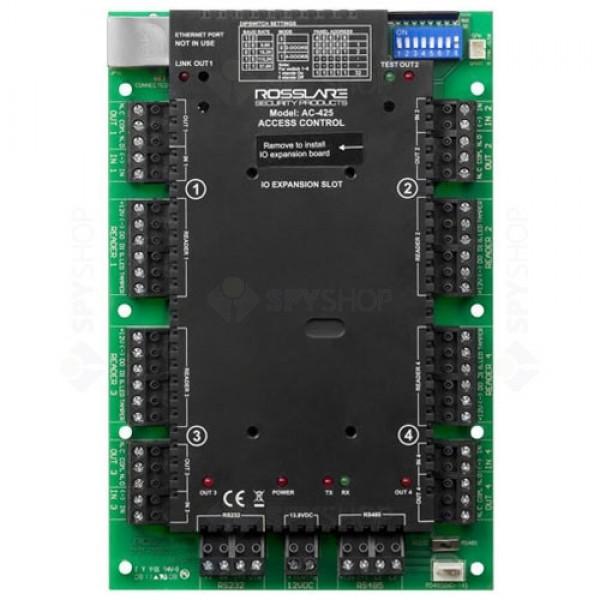 Controler acces pentru 4 uşi/unidirectional, sau 2 bidirectional (8 unidirectional sau 4 bidirectional cu modul MD-D04)